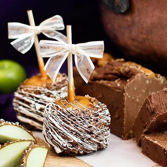 Rocky Mountain Chocolate Fudge Caramel Apples Truffles Gift Idea
