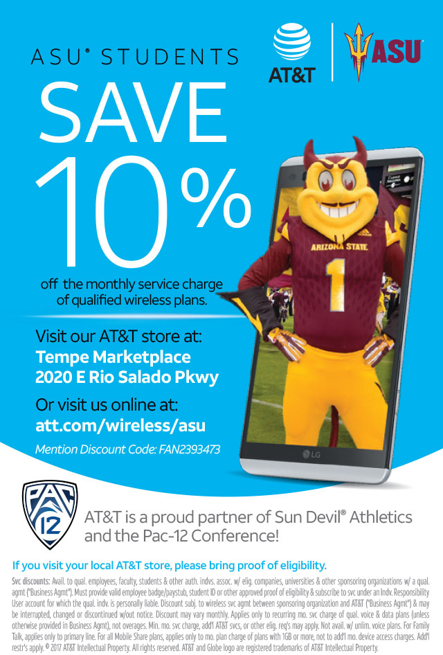 Specials Att Asu Students Save 10 Percent