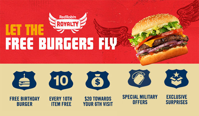 Specials Red Robin Loyalty Free Burgers