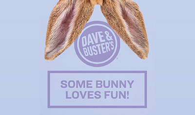 Special Event Dave Busters Easter Bunny