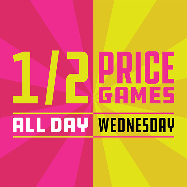 Specials Dave Busters Half Price Wednesday