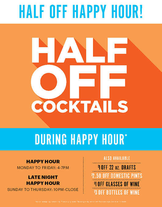 Specials Dave Busters Happy Hour